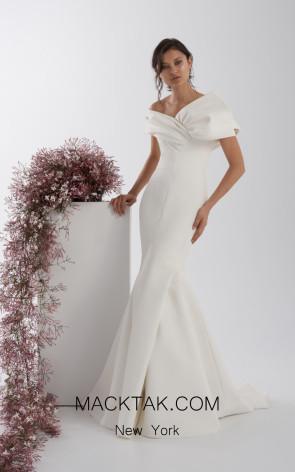 Rachel Gilbert RG60565 Ivory Front Evening Dress