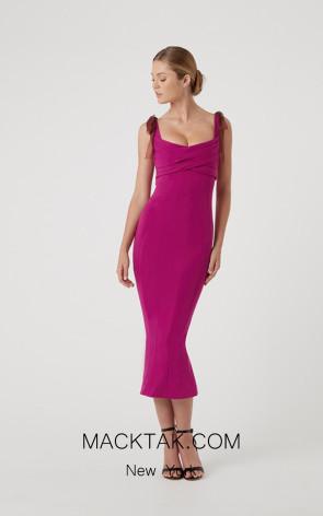 Rachel Gilbert RG60590 Magenta Front Evening Dress