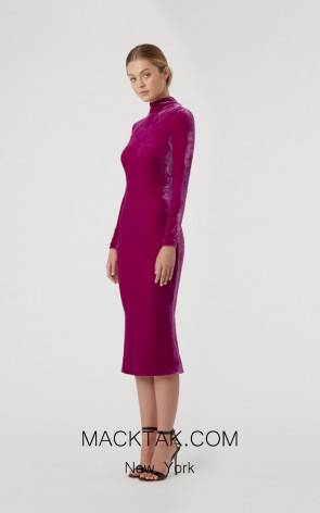 Rachel Gilbert RG60596 Magenta Front Evening Dress