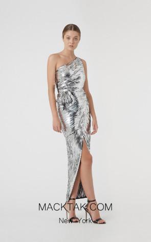 Rachel Gilbert RG60603 Silver Front Evening Dress
