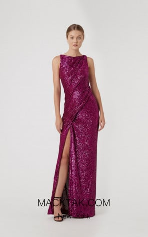 Rachel Gilbert RG60605 Magenta Front Evening Dress