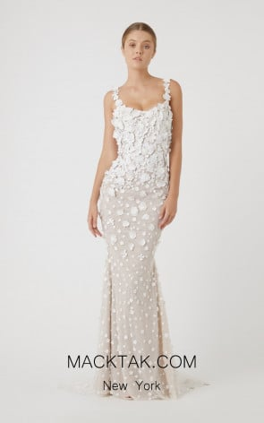 Rachel Gilbert RG60621 Ivory Front Evening Dress