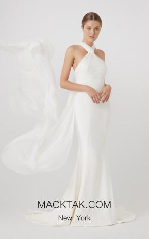 Rachel Gilbert RG60631 Ivory Front Evening Dress