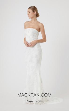 Rachel Gilbert RG60632 Ivory Front Evening Dress
