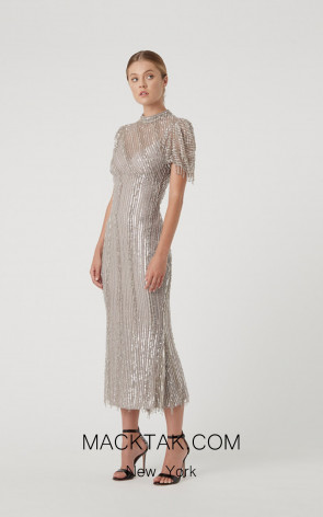 Rachel Gilbert RG60635 Silver Front Evening Dress
