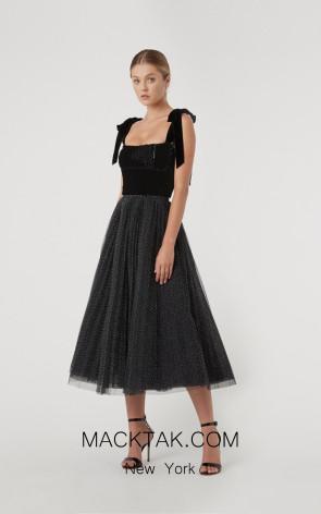 Rachel Gilbert RG70091 Black Front Evening Dress