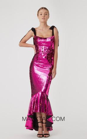 Rachel Gilbert RG70092 Magenta Front Evening Dress