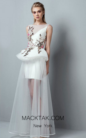 Saiid Kobeisy RE3352 Off White Front Dress