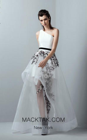 Saiid Kobeisy RE3354 Off White Front Evening Dress