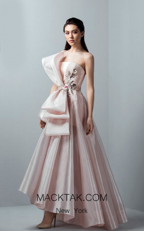 Saiid Kobeisy RE3365 Orchid Pink Front Evening Dress