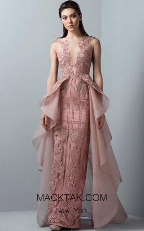 Saiid Kobeisy RE3367 Orchid Pink Front Evening Dress