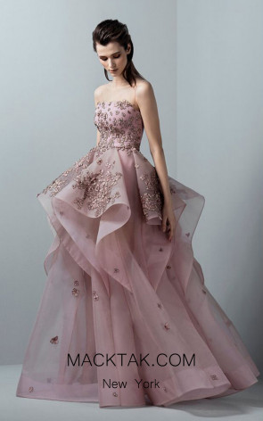 Saiid Kobeisy RE3368 Orchid Pink Front Evening Dress