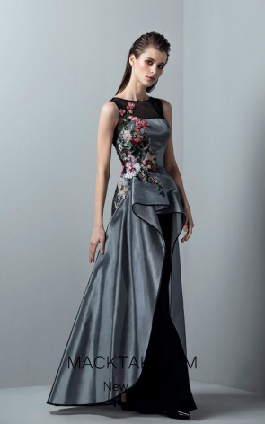 Saiid Kobeisy RE3380 Night Sky Black Front Evening Dress