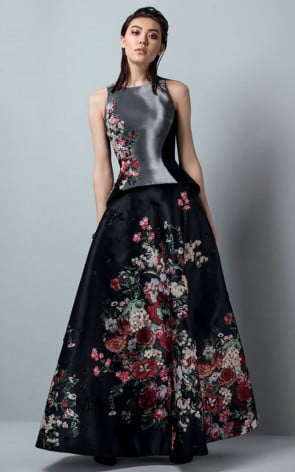 Saiid Kobeisy RE3381 Night Sky Black Front Evening Dress