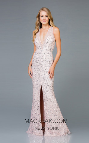 Scala 48984 Petal Front Evening Dress
