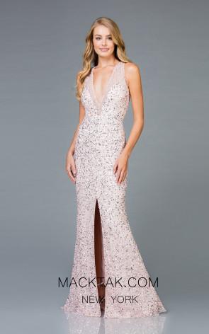 Scala 48984 Petal Front Evening Dress