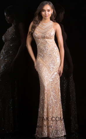 Scala 48688 Almond Front Evening Dress