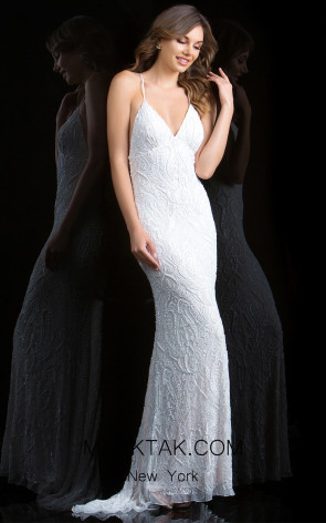 Scala 48710 Ivory Front Evening Dress