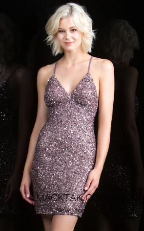 Scala 48782 Amethyst Front Evening Dress