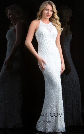 Scala 48786 Ivory Front Evening Dress