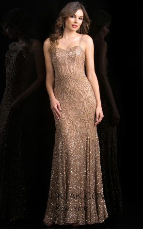 Scala 48791 Cappuccino Front Evening Dress