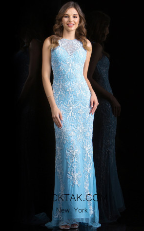 Scala 48803 Sky Front Evening Dress