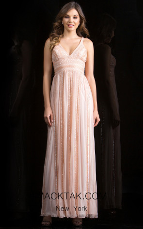 Scala 48812 Blush Front Evening Dress
