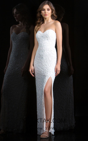 Scala 48816 Ivory Front Evening Dress