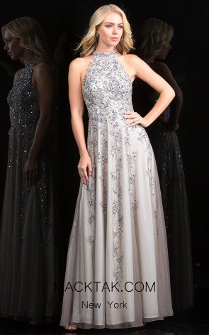 Scala 48858 Platinum Front Evening Dress