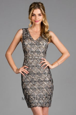 Scala 48925 Lead Front Cocktail Dress