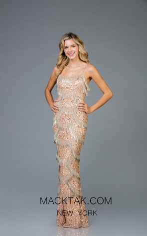 Scala 48934 Mink Silver Front Evening Dress