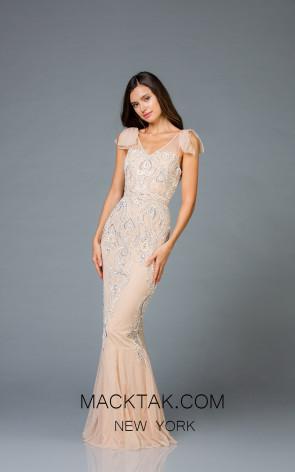 Scala 48943 Mink Silver Front Evening Dress