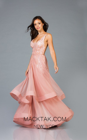 Scala 48947 New Rose Front Evening Dress