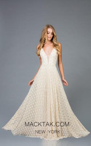 Scala 48952 Vanilla Front Evening Dress