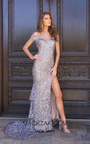 Shail K 12160 Platinum Dress