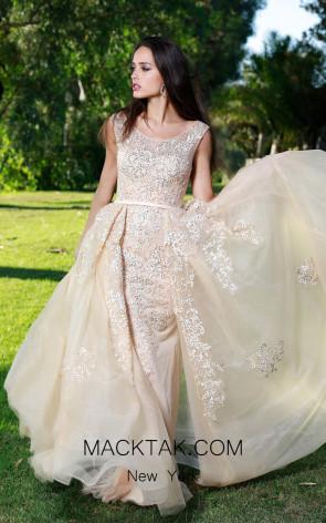 Shail k 33913 Champagne Dress