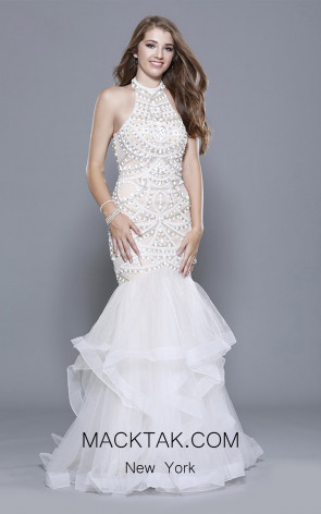 Shail K 33915 Ivory Nude Front