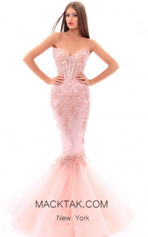 Tarik Ediz 93494 Powder Front Evening Dress