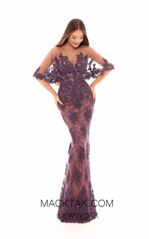 Tarik Ediz 93691 Lavender Front Evening Dress