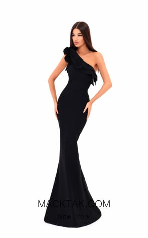Tarik Ediz 50204 Black Dress