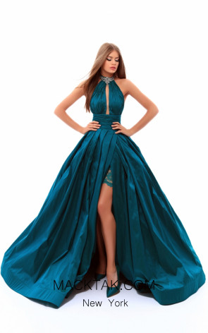 Tarik Ediz 50213 Green Dress
