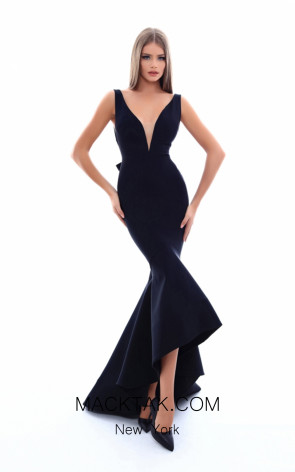 Tarik Ediz 50238 Black Dress