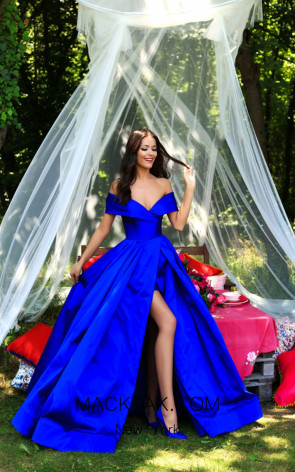 Tarik Ediz 50280 Royal Blue Dress