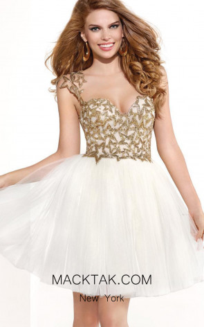 Tarik Ediz 90365 Front White Dress