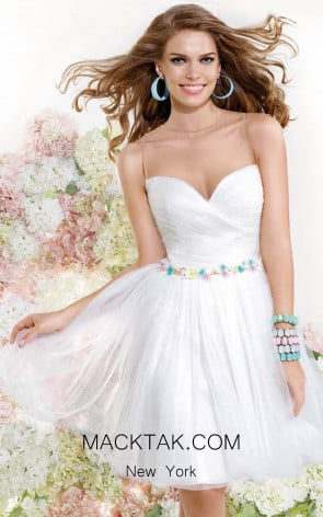 Tarik Ediz 90368 Front White Dress