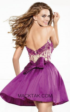 Tarik Ediz 90378 Back Purple Dress