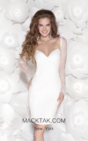 Tarik Ediz 90403 Front White Dress