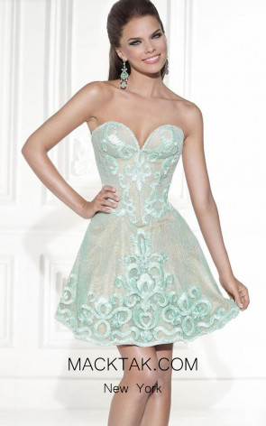 Tarik Ediz 90449 Emi Mint Front Dress