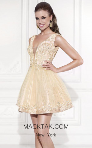 Tarik Ediz 90464 Stormi Front Cream Dress