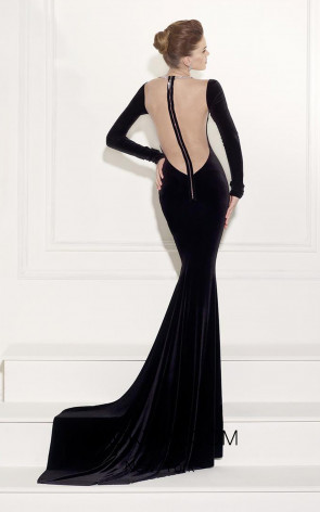 Tarik Ediz 92454 Back Black Dress